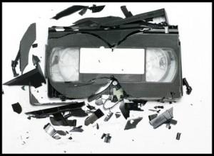 une cassette cassée